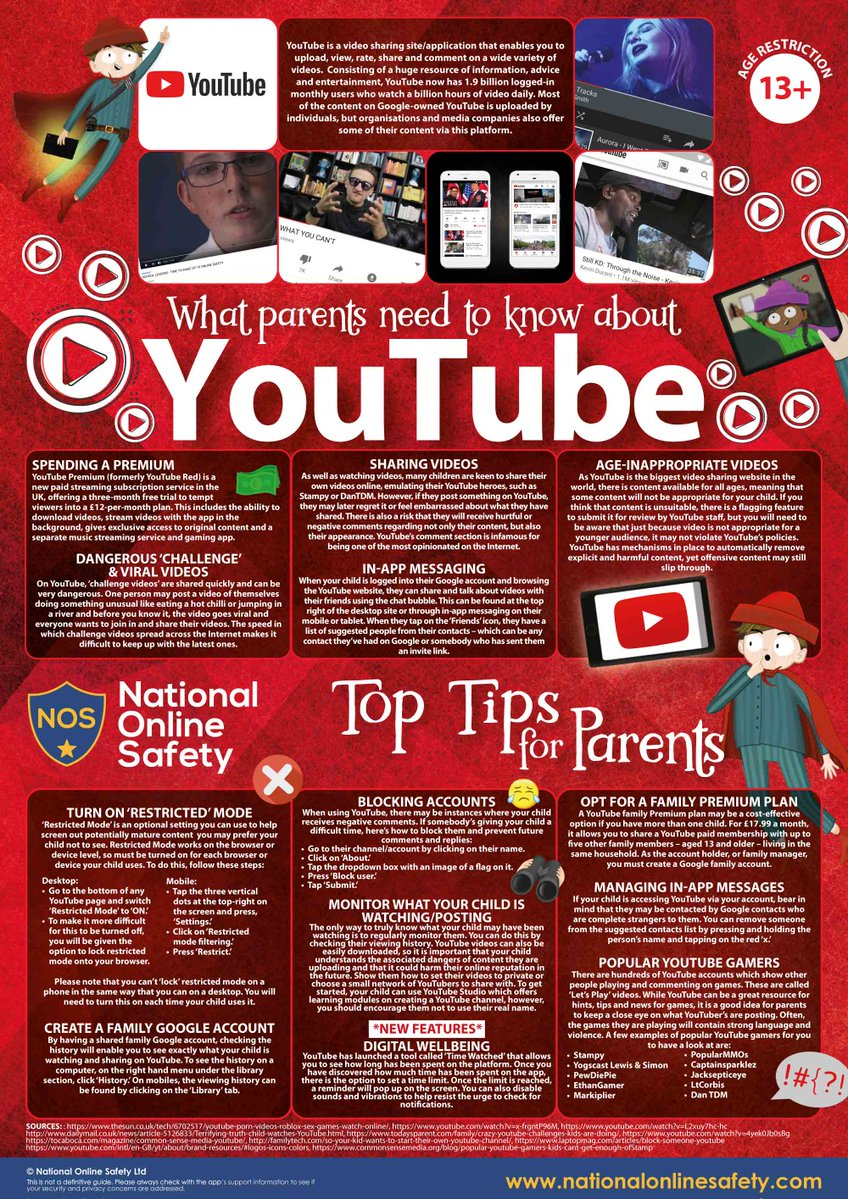 YouTube guide for parents and carers – Caludon Castle School
